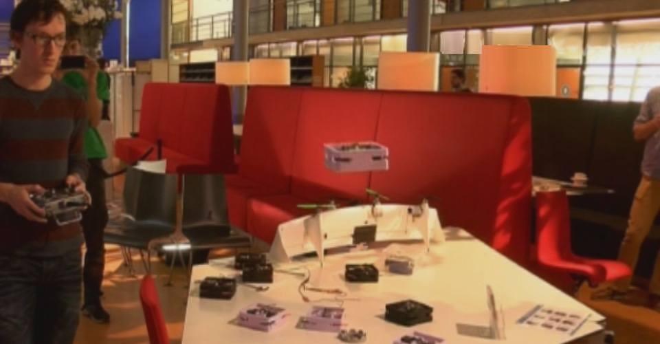 Drones op Research Exhibition van TU Delft