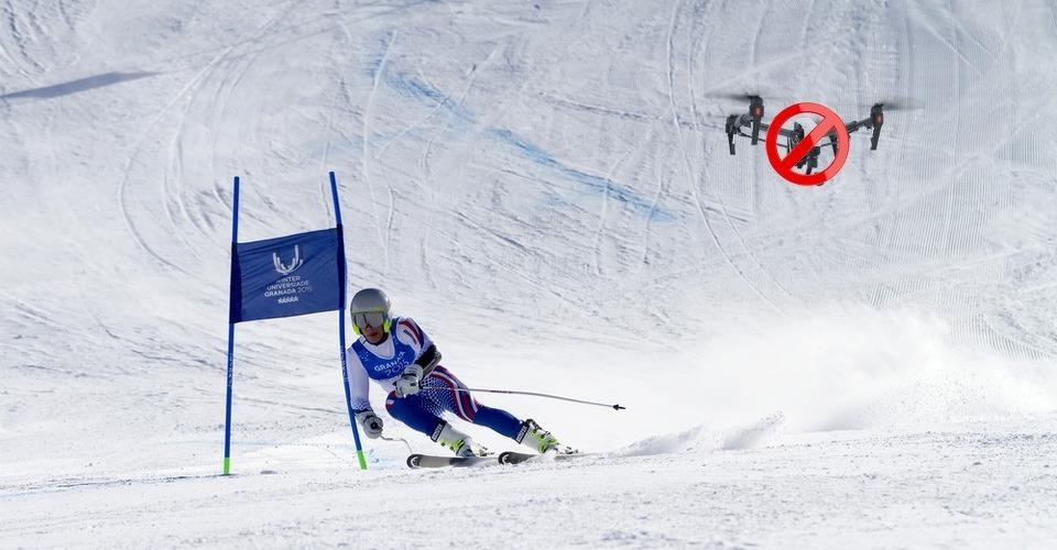 Drones niet meer toegestaan bij skiwedstrijden na incident