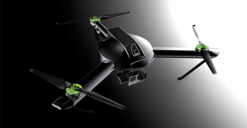Carbon drone Erida te koop op Indiegogo.com