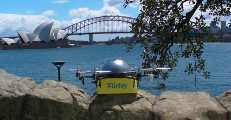 Drone bezorgservice Flirtey verhuist naar USA