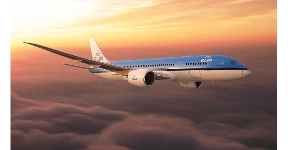 Onderhoud KLM-toestel met drones