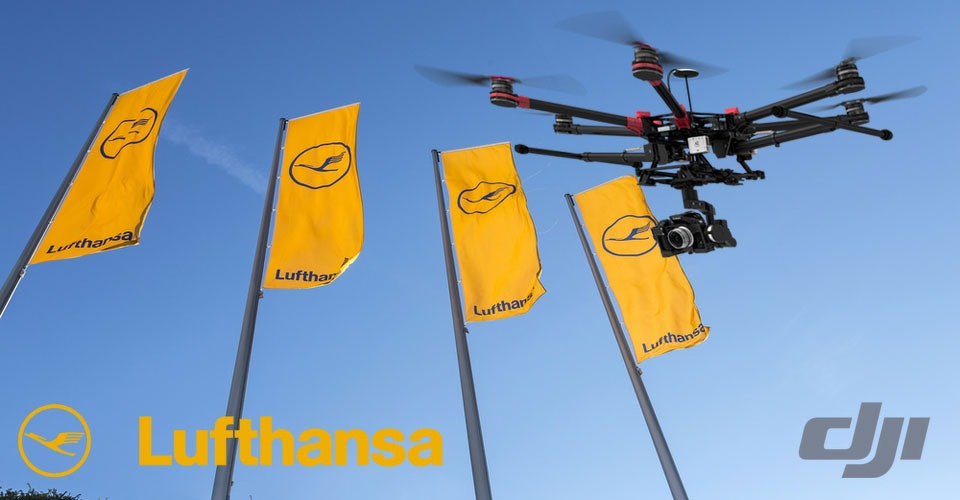 Samenwerking DJI en Lufthansa