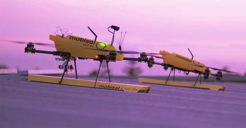 Duitse Mobisol vervoert zonnepanelen met drones