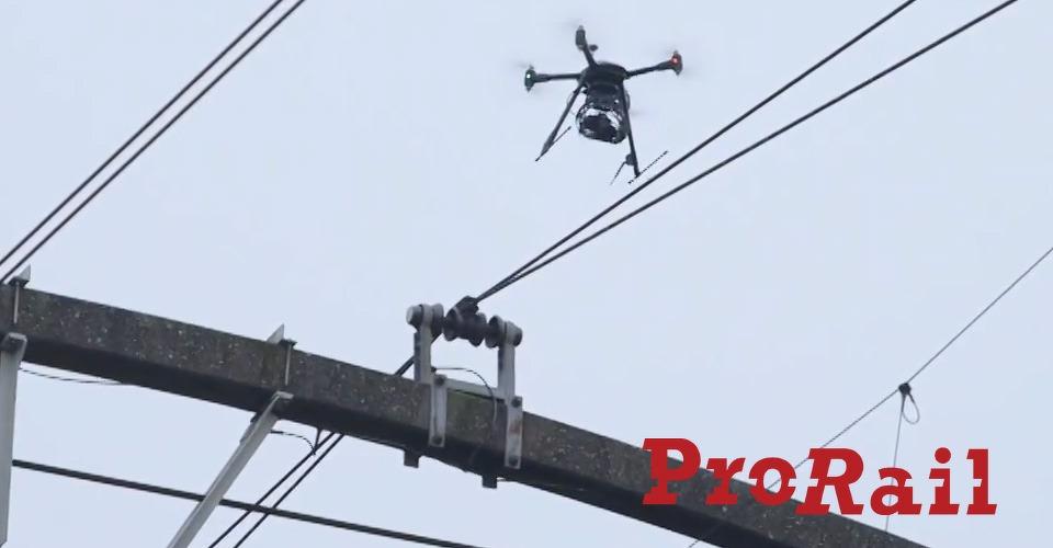 Prorail controleert spoor met drone