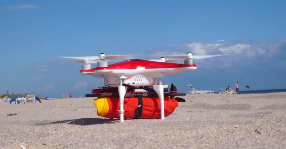 Ryptide drone redt drenkelingen