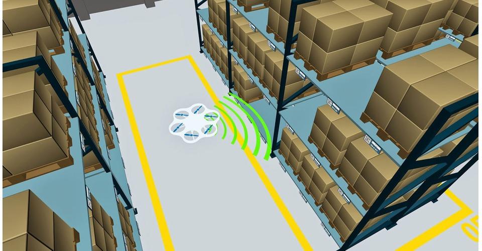 De drone als vliegende voorraad beheerder