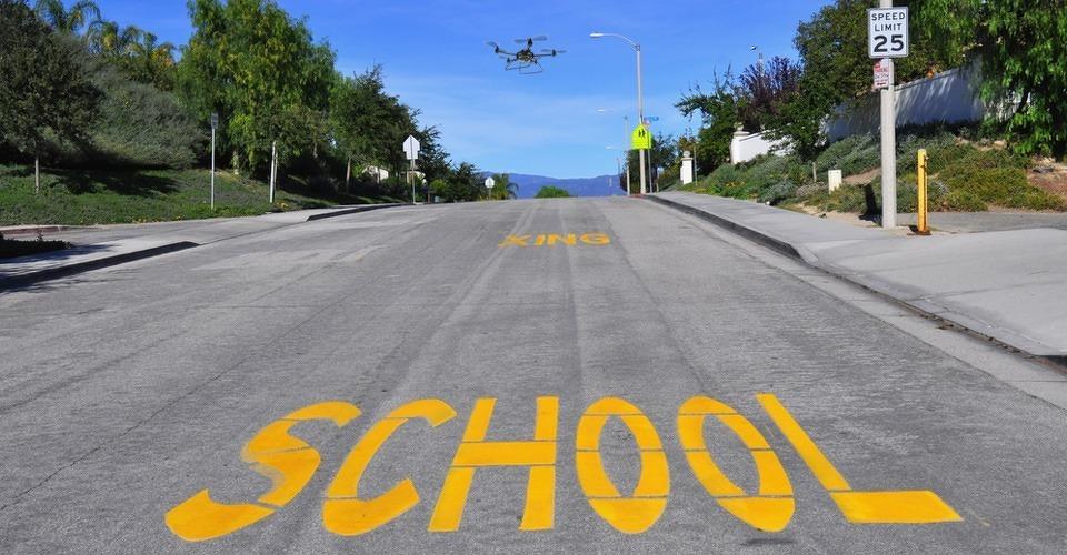Drones ingezet voor onderzoek verkeer rondom scholen