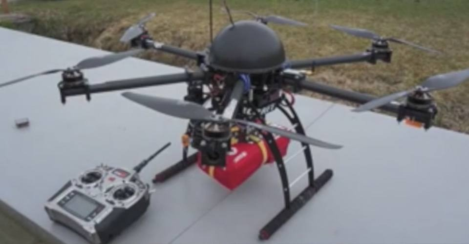 Search-and-Rescue Drone, ontworpen voor hulpverlening