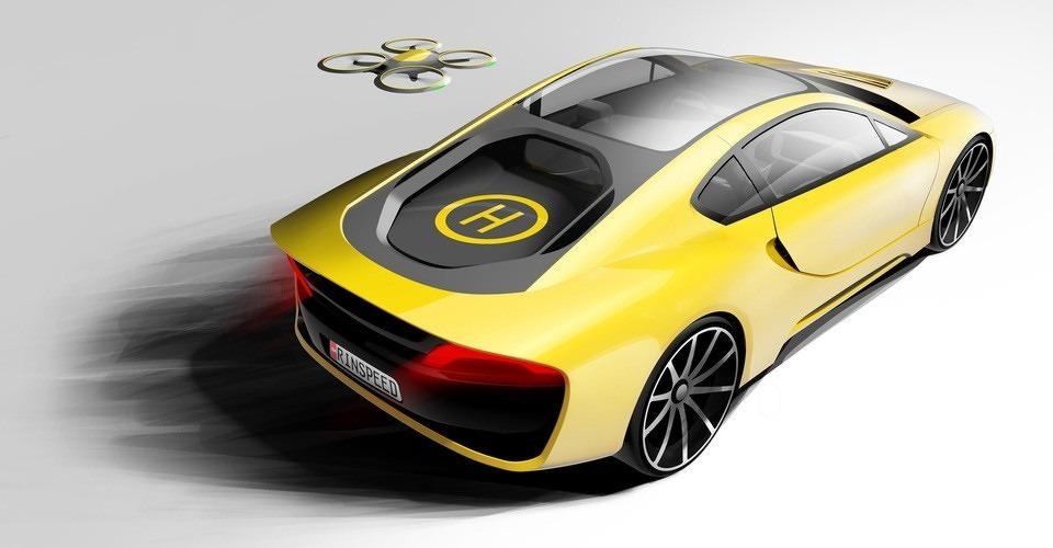 Rinspeed Etos concept car met landingsdek voor drones