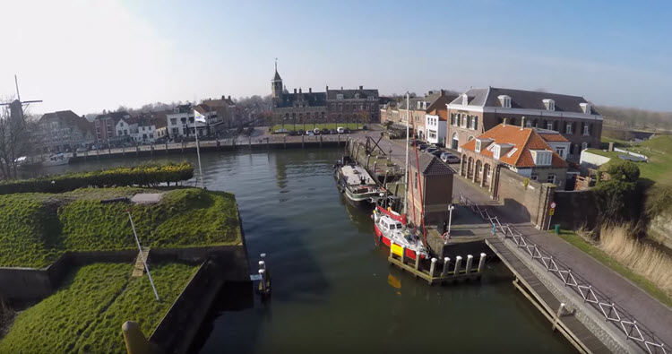 Willemstad, Noord-Brabant gefilmd in 4K Ultra HD