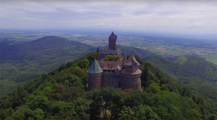 Château du Haut-Koenigsbourg from Above