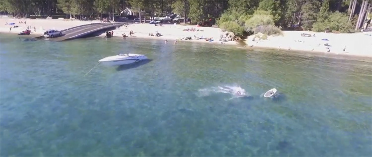 Dronevideo Tahoe meer in Californië