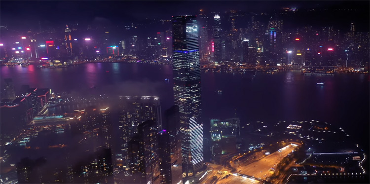 Ray Leung - DJI Mavic 2 Pro, Kowloon Night